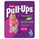 Huggies® Pull-Ups® Trainers Day, Girl, Size 2-4 Years, Nappy Size 5-6+, 20 Big Kid Training Pants