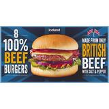 Iceland 100% British Beef Burgers 397 g
