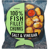 Iceland 100% Fish Fillet Chunks in a Salt & Vinegar Coating 400g