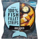 Iceland 100% Fish Fillet Strips in a Breaded Coating 450g