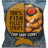 Iceland 100% Fish Fillet Strips In A Chip Shop Curry Coating 450g