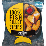 Iceland 100% Fish Fillet Strips In A Crispy Coating 450g