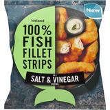 Iceland 100% Fish Fillet Strips In A Salt & Vinegar Coating 450g