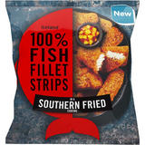 Iceland 100% Fish Fillet Strips In A Southern Fried Coating 450g