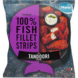 Iceland 100% Fish Fillet Strips In A Tandoori Coating 450g