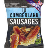 Iceland 10 (approx.) Cumberland Sausages 500g