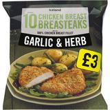 Iceland 10 (approx.) Garlic & Herb Chicken Breast Breasteaks 850g