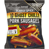Iceland 10 (approx.) Scarily Spicy Ghost Chilli Pork Sausages 500g