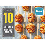 Iceland 10 Chicken Noodle Sticks 250g