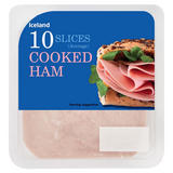 Iceland 10 Cooked Ham Slices (Average) 115g