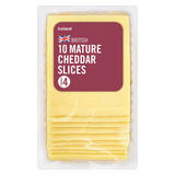Iceland 10 Mature Cheddar Slices 250g