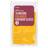 Iceland 10 Mature Coloured Cheddar Slices 250g