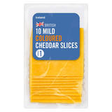 Iceland 10 Mild Coloured Cheddar Slices 250g