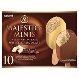 Iceland 10 Minis Belgian Milk & White Chocolate Majestics 400g