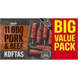 Iceland 11 BBQ Pork & Beef Koftas 550g