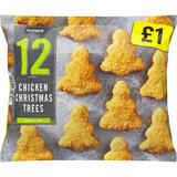 Iceland 12 (Approx.) Chicken Christmas Trees 240g