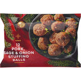 Iceland 12 (approx.) Pork, Sage & Onion Stuffing Balls 300g