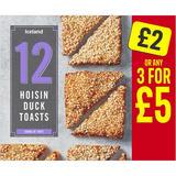 Iceland 12 Hoisin Duck Toasts 156g