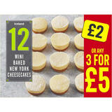 Iceland 12 Mini Baked New York Cheesecakes 268g