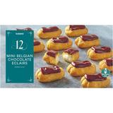 Iceland 12 Mini Belgian Chocolate Eclairs 140g