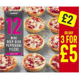 Iceland 12 Mini Deep Dish Pepperoni Pizzas 312g