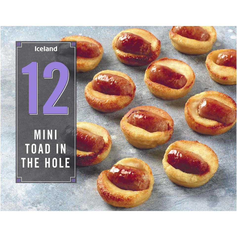 Iceland 12 Mini Toad In The Hole 258g Party Food