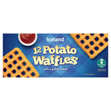 Iceland 12 Potato Waffles with a Golden Crunch 680g