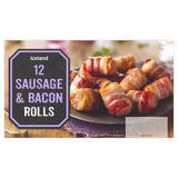 Iceland 12 Sausage & Bacon Rolls 276g