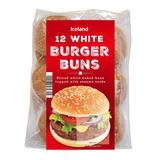 Iceland 12 White Burger Buns