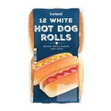 Iceland 12 White Hot Dog Rolls