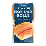 Iceland 12 White Hot Dog Rolls