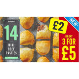 Iceland 14 (approx.) Mini Beef Pasties 392g