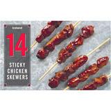 Iceland 14 Sticky Chicken Skewers 313g