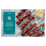 Iceland 14 Sticky Chicken Skewers with Sesame Seeds 337g