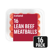 Iceland 16 Lean Beef Meatballs 305g