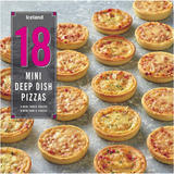 Iceland 18 Mini Deep Dish Pizzas 504g