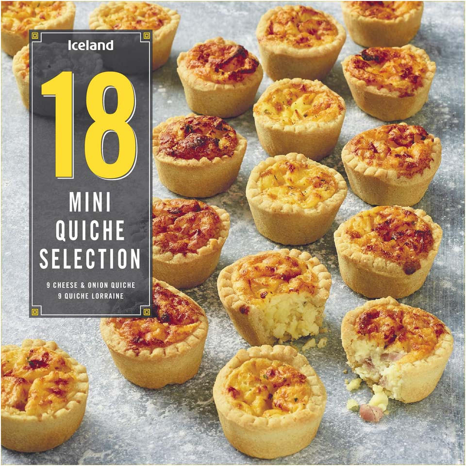 Iceland 18 Mini Quiche 388g Party Food Platters