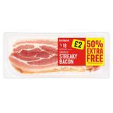 Iceland 18 Rashers (approx.) Smoked Streaky Bacon 300g