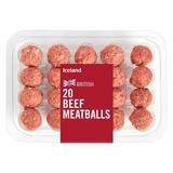 Iceland 20 Beef Meatballs 375g