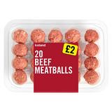 Iceland 20 Beef Meatballs
