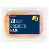 Iceland 20 Slices (approx.) Breaded Ham 300g