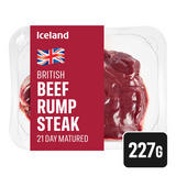 Iceland 21 Day Matured British Beef Rump Steak 227g