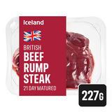Iceland 21 Day Matured British Beef Rump Steak 227g