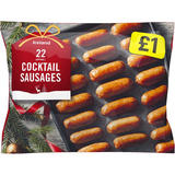 Iceland 22 (approx.) Pork Cocktail Sausages 308g