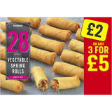 Iceland 28 (approx.) Vegetable Spring Rolls 650g