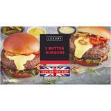 Iceland 2 100% British Beef Luxury Butter Burgers 284g
