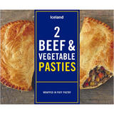 Iceland 2 Beef and Vegetable Pasties 360g