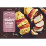 Iceland 2 Cheese & Bacon Wrapped Chicken Breasts 380g