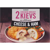 Iceland 2 Cheese & Ham Chicken Breast Kievs 250g