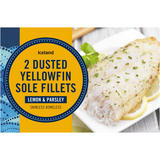 Iceland 2 Dusted Yellowfin Sole Fillets Lemon & Parsley 250g